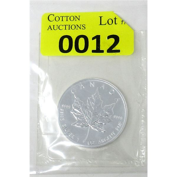 1 Oz .9999 Fine Silver 1999 Canada Maple Leaf Coin