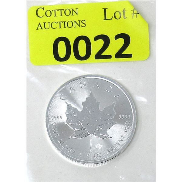 1 Oz .9999 Fine Silver 2021 Canada Maple Leaf Coin
