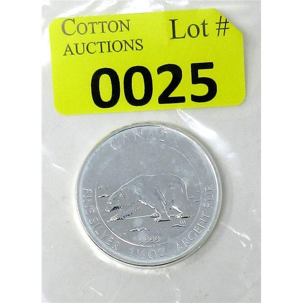 1.5 Oz. Canada .9999 Silver 2013 Polar Bear Coin