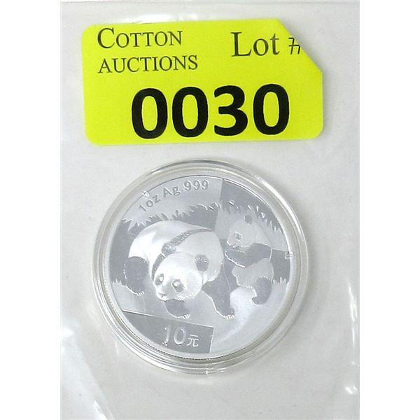 1 Oz..999 Silver Chinese 2008 Panda Coin