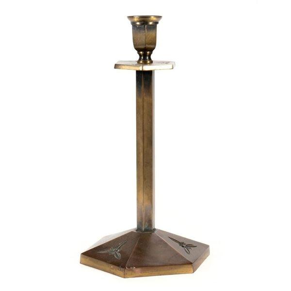 Bradley & Hubbard Brass Candlestick