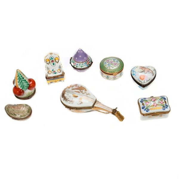 A Collection of Limoges Porcelain Boxes