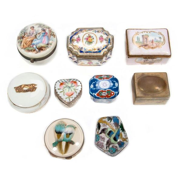 A Collection of Porcelain Boxes
