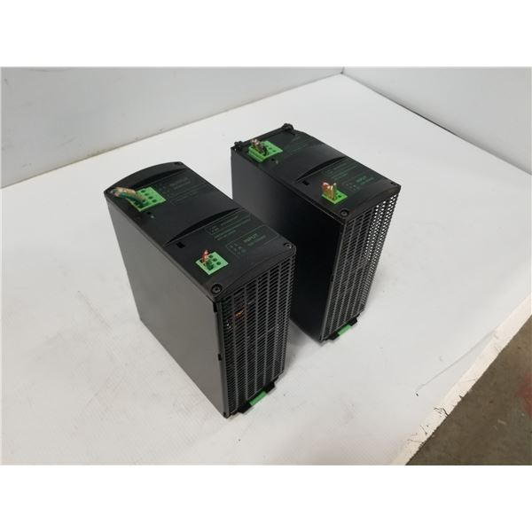 (2) MURR MCS20-115/24 SWITCH MODE POWER SUPPLY (CRACKED HOUSING) *SEE PICS FOR DETAILS*