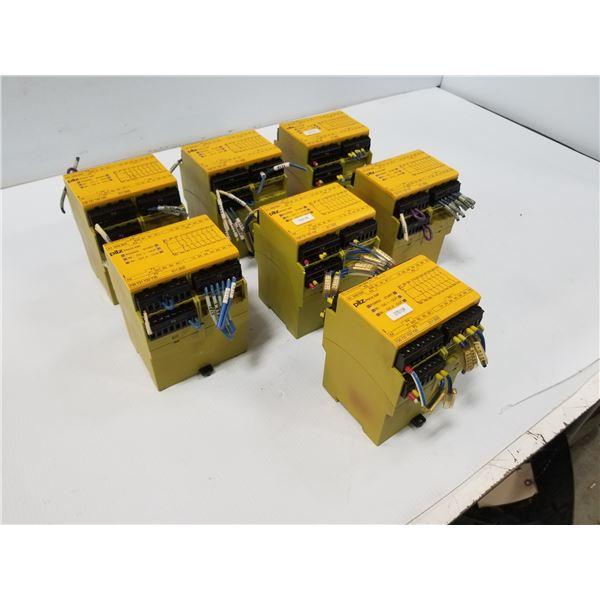 LOT OF PILZ PN0ZX9P24VDC7N/O2N/C2S0 SAFETY RELAY MODULE