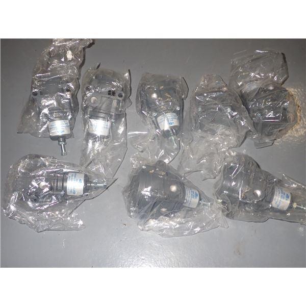 Lot of (8) NITRA #BR-322 Pneumatic Regulators