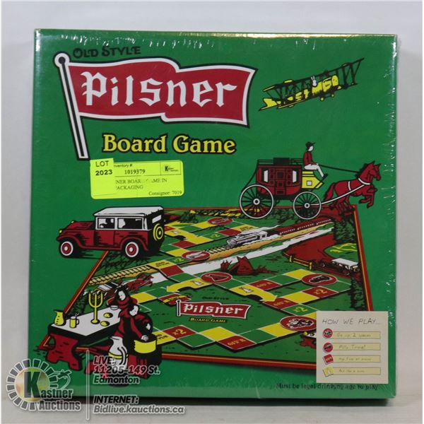 NEW PILSNER BOARD GAME IN SEALED PACKAGING