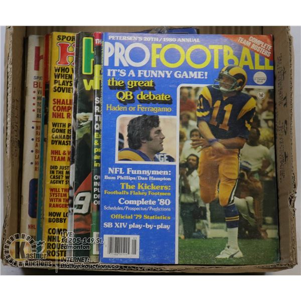 BOX OF FOOTBALL MAGAZINES