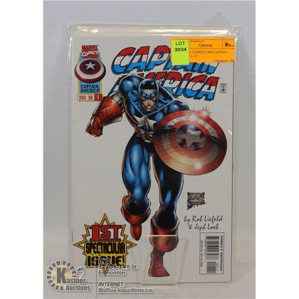 MARVEL COMICS 1996 CAPTAIN AMERICA  #1