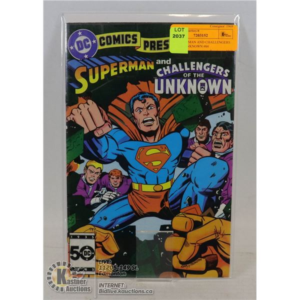 DC SUPERMAN AND CHALLENGERS OF THE UNKNOWN #84