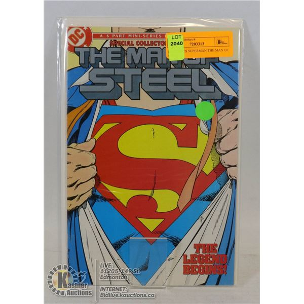 DC COMICS SUPERMAN THE MAN OF STEEL #1