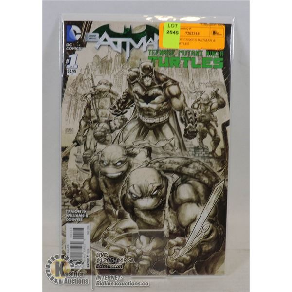 #1 ISSUE DC COMICS BATMAN & NINJA TURTLES
