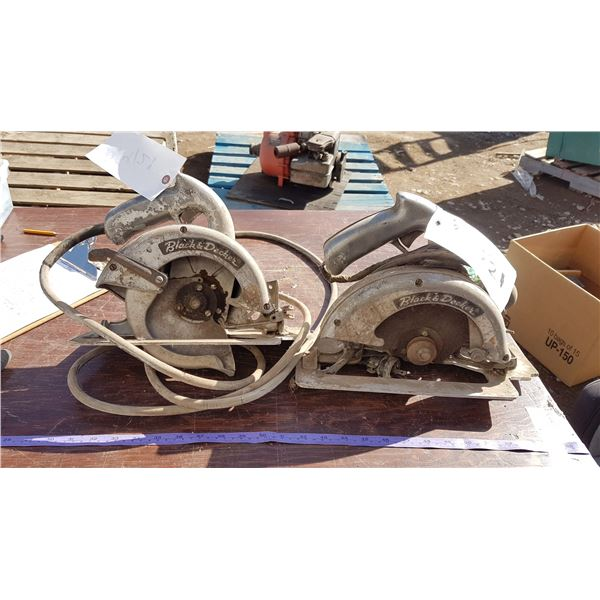 2 black & decker circular saws