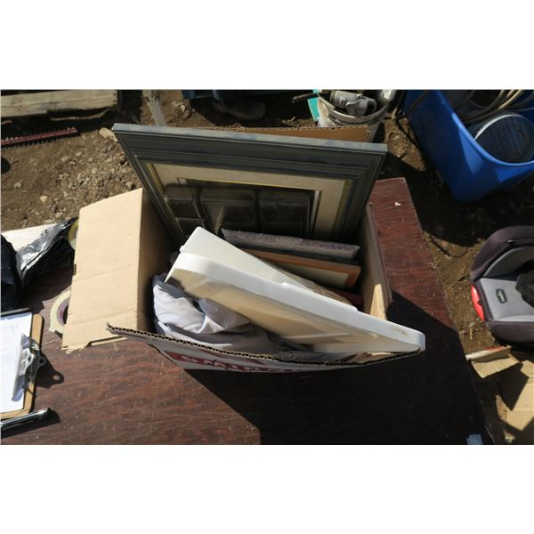 lot picture frames + misc