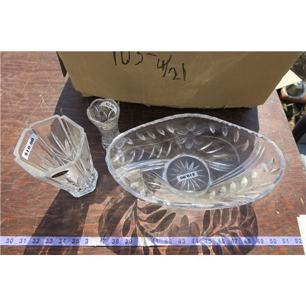 lot depression glass + misc