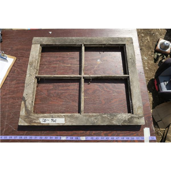 vintage window frame