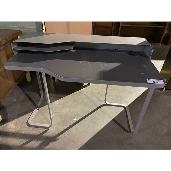 """2 TIER DESK WITH ELECTRICAL PLUG IN + USB CHARGE 47 X 24"""""""