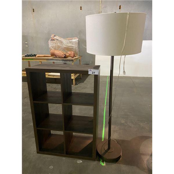 """CUBBY STORAGE (14.5 X 30.5 X 45"""") & FLOOR LAMP"""
