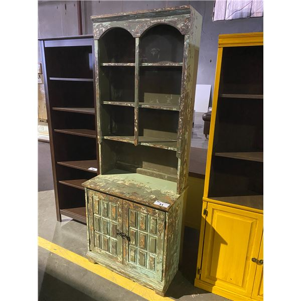 """DISTRESSED RUSTIC PAINTED CABINET 17 X 29 X 78"""""""