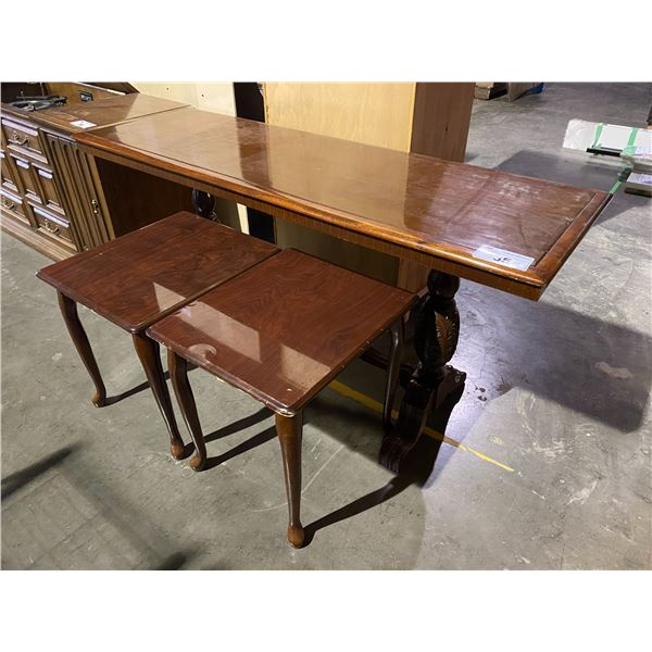 """BUFFET TABLE 60 X 20"""" & 2 SIDE TABLE 20.5 X 17.5"""""""