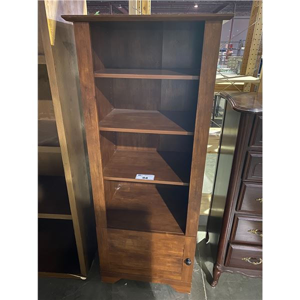 """4 TIER SHELVING UNIT WITH CABINET STORAGE 19 X 25 X 60"""""""