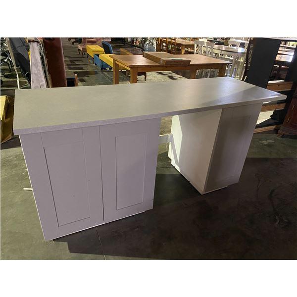 "ROLLING TABLE/ISLAND 25.5 X 74 X 35"""