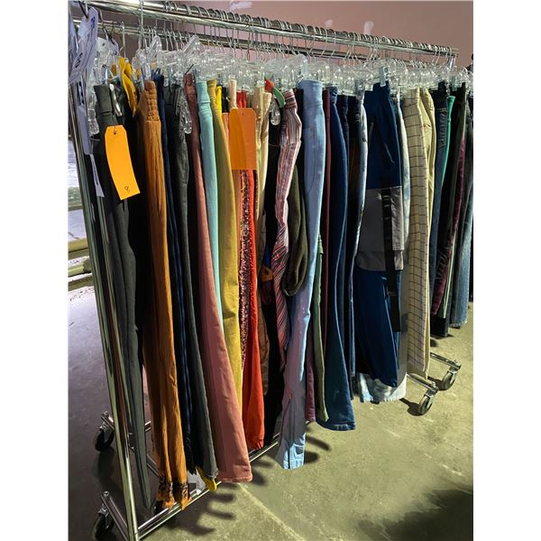 ASSORTED CLOTHING BRANDS SUCH AS : ZARA, JADED, LEVIS, & MORE RACK INCLUDED