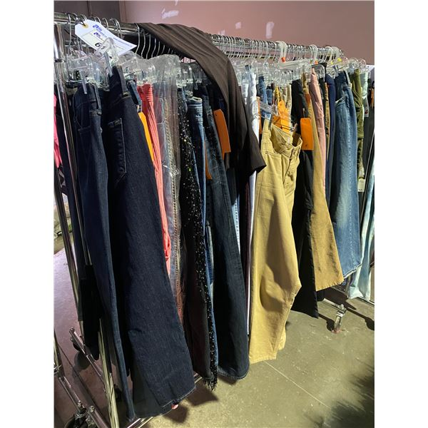 ASSORTED CLOTHING BRANDS SUCH AS : GAP, HUGO BOSS, JOE FRESH, & MORE RACK INCLUDED