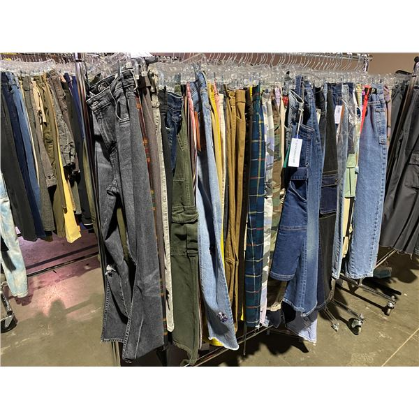 ASSORTED CLOTHING BRANDS SUCH AS : JADED, TOMMY HILFIGER, URBAN OUTFITTERS, & MORE RACK INCLUDED