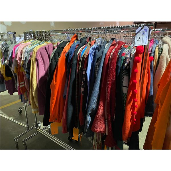 ASSORTED CLOTHING BRANDS SUCH AS : ASOS, J. CREW, TOP SHOP, & MORE RACK INCLUDED