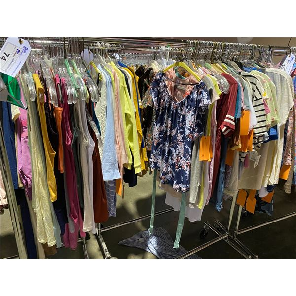 ASSORTED CLOTHING BRANDS SUCH AS : TOP SHOP, CALVIN KLEIN, ZARA, & MORE RACK INCLUDED