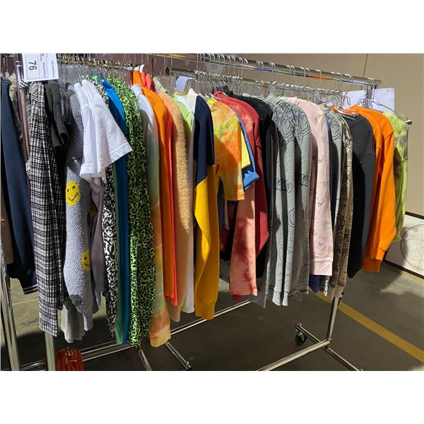 ASSORTED CLOTHING BRANDS SUCH AS : JADED, TOP SHOP, FOREVER 21, & MORE RACK INCLUDED