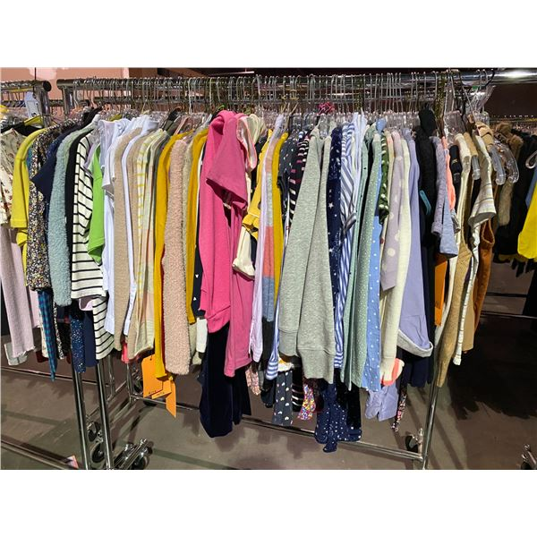 ASSORTED CLOTHING BRANDS SUCH AS : HM, AMERICAN APPAREL, OLD NAVY, & MORE RACK INCLUDED