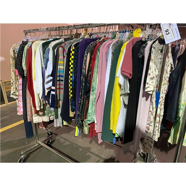 ASSORTED CLOTHING BRANDS SUCH AS : TOP SHOP, J.CREW, WILFRED FREE, & MORE RACK INCLUDED