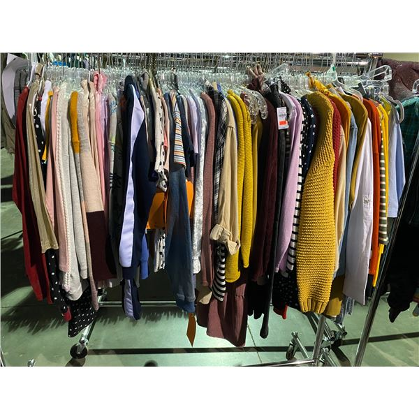 ASSORTED CLOTHING BRANDS SUCH AS : ZARA, OLD NAVY, HM, & MORE RACK INCLUDED