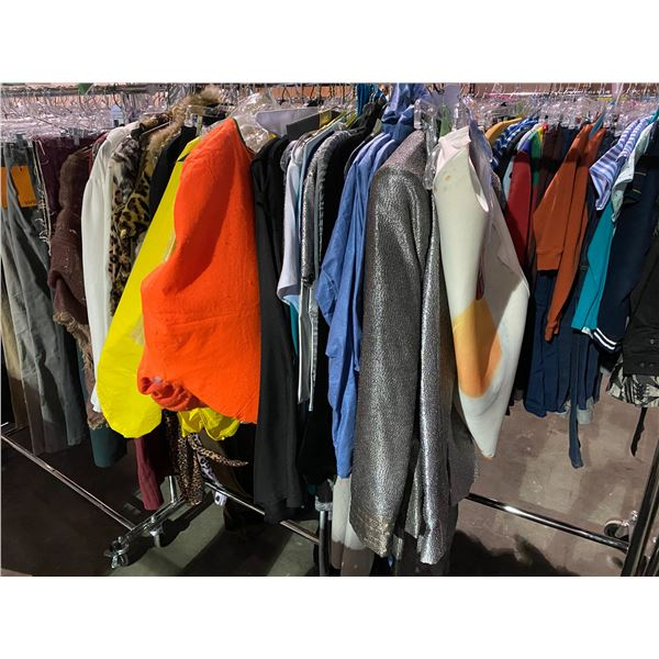 ASSORTED CLOTHING & COSTUMES RACK INCLUDED