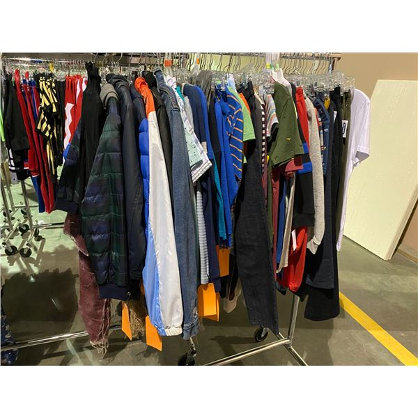 ASSORTED CLOTHING BRANDS SUCH AS : ZARA, CARTERS, OLD NAVY, & MORE RACK INCLUDED