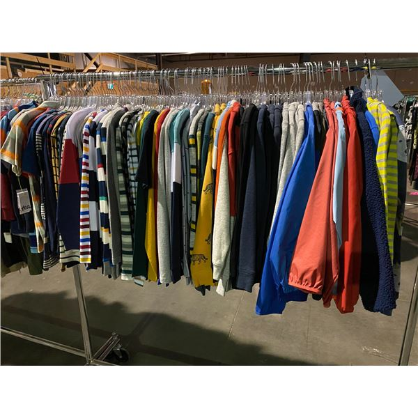 ASSORTED CLOTHING BRANDS SUCH AS : HM, CREW CUTS, AMERICAN APPAREL, & MORE RACK INCLUDED
