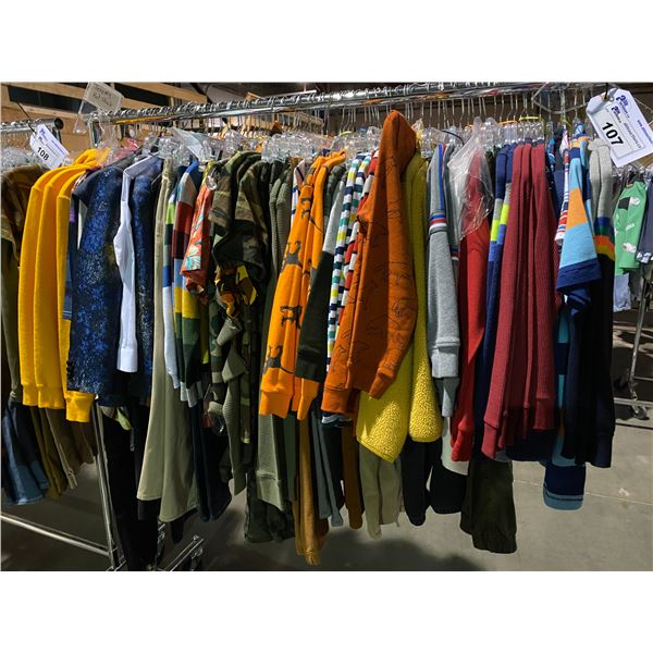 ASSORTED CLOTHING BRANDS SUCH AS : UNIQLO, OSHKOSH, CALVIN KLEIN, & MORE RACK INCLUDED
