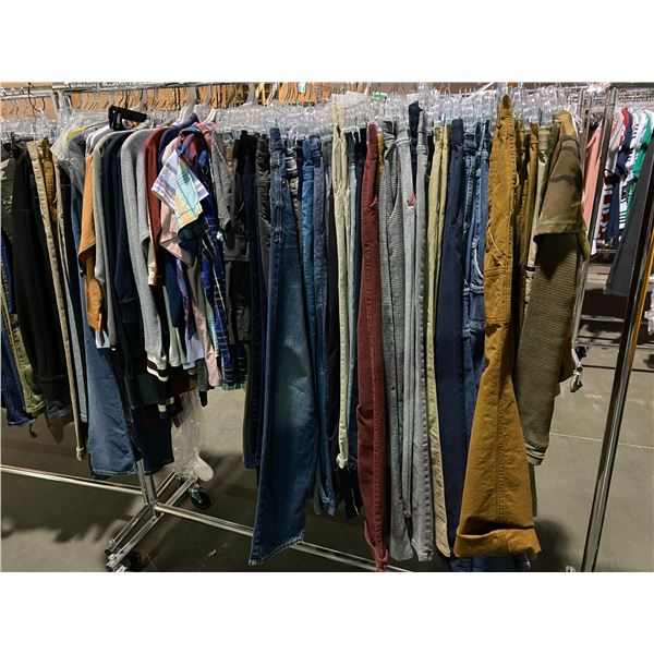 ASSORTED CLOTHING BRANDS SUCH AS : HM, AMERICAN EAGLE, OLD NAVY, & MORE RACK INCLUDED