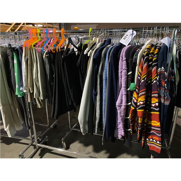 ASSORTED CLOTHING BRANDS SUCH AS : ASOS, TOP MAN, HM, & MORE RACK INCLUDED