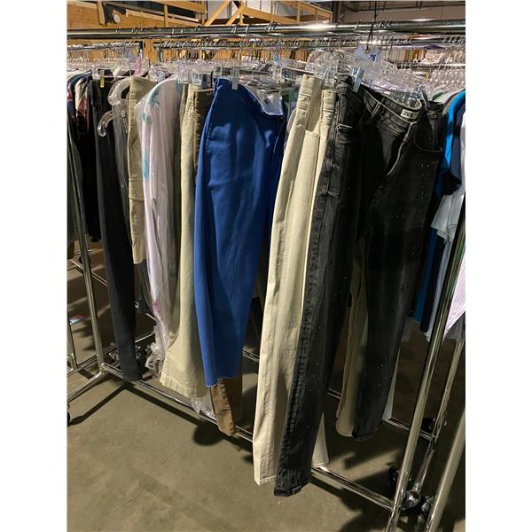ASSORTED CLOTHING BRANDS SUCH AS : RALPH LAUREN, LEVIS, DICKIES, & MORE RACK INCLUDED