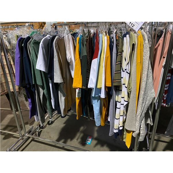 ASSORTED CLOTHING BRANDS SUCH AS : TOP MAN, RW&CO, HM, & MORE RACK INCLUDED