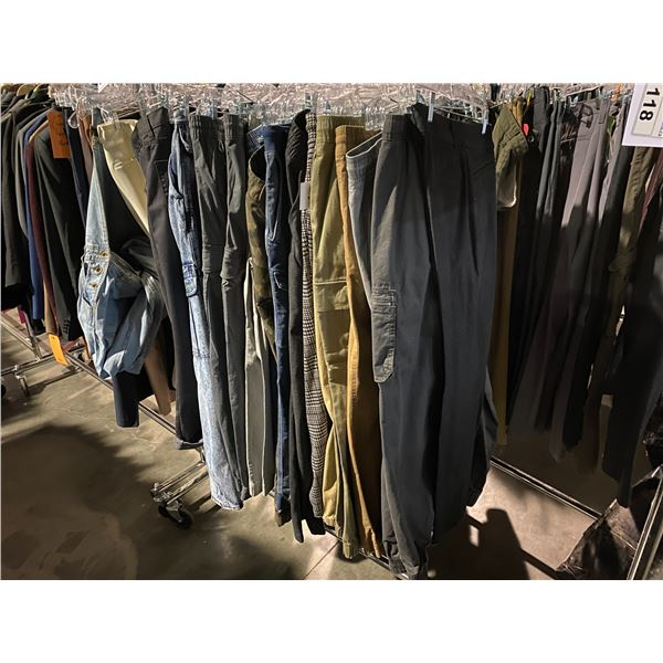 ASSORTED PANTS BRANDS SUCH AS : VOLCOM, HM, VANS, & MORE RACK INCLUDED