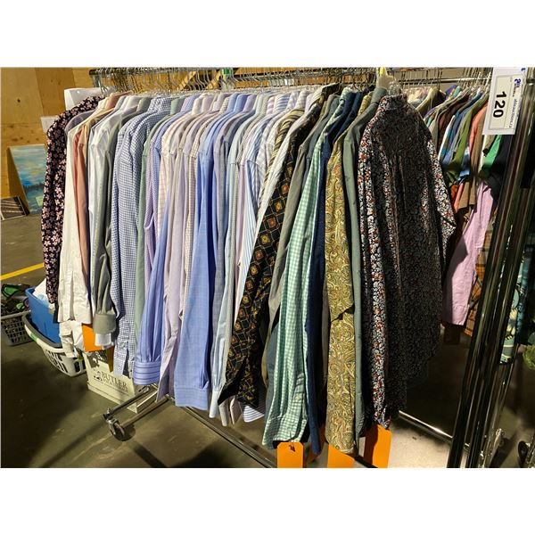 ASSORTED CLOTHING BRANDS SUCH AS : TOMMY HILFIGER, TOP MAN, HM, & MORE RACK INCLUDED