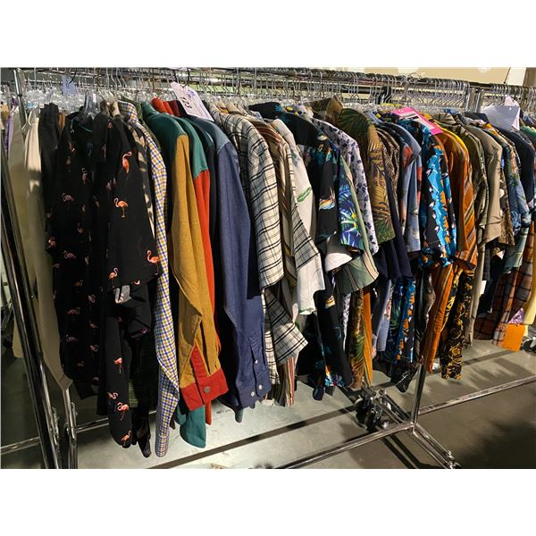 ASSORTED CLOTHING BRANDS SUCH AS : FASHIONNOVA MEN, TOP MAN, STUSSY, & MORE RACK INCLUDED