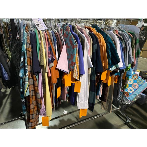 ASSORTED CLOTHING BRANDS SUCH AS : BILLABONG, VOLCOM, POINT ZERO, & MORE RACK INCLUDED