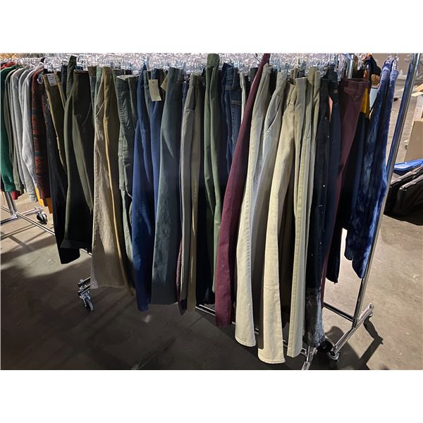 ASSORTED PANTS BRANDS SUCH AS : DOCKERS, VANS, OLD NAVY, & MORE RACK INCLUDED