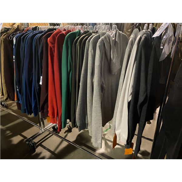 ASSORTED CLOTHING BRANDS SUCH AS : CORE, FOREVER 21, HM, & MORE RACK INCLUDED