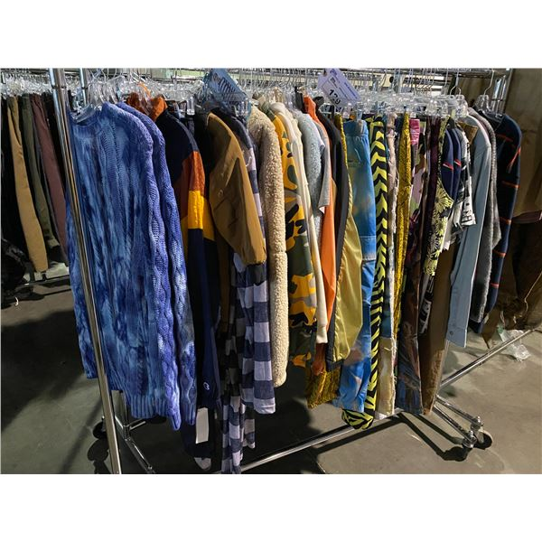ASSORTED CLOTHING BRANDS SUCH AS : CHAMPION, JADED, BDG, & MORE RACK INCLUDED